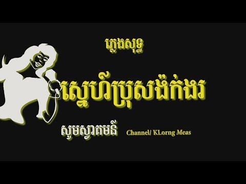 ស្នេហ៍ប្រុសង៉ក់ងរ ភ្លេងសុទ្ធ, Sne bros ngok ngor, Karaoke Khmer for sing