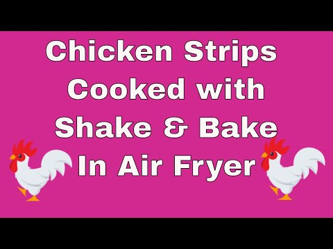 Chicken Strips Cooked With Shake & Bake in Air Fryer