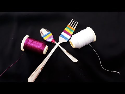 Çatalla yapılan iğne oyası | Interesting design needle lace tutorial