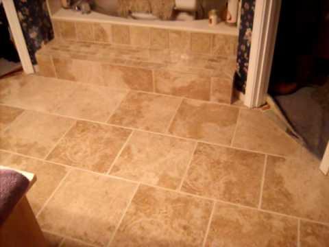 Travertine Bathroom Floor travertine bathroom floor.mov - youtube