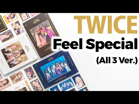 Twice Feel Special Album All Version Unboxing / Quick Look