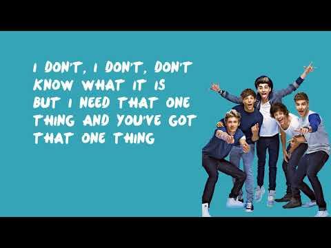 One Thing - One Direction (Lyrics)