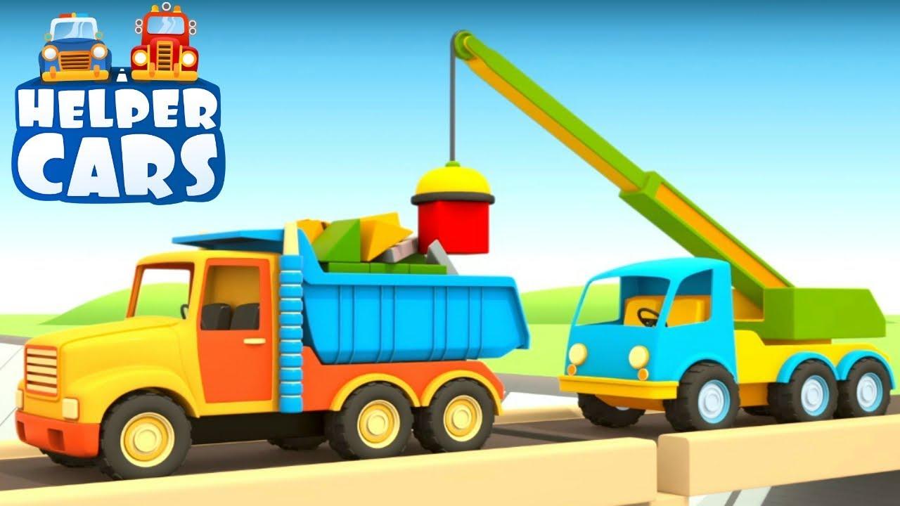Helper Cars Kids Cartoon Truck Crane Youtube