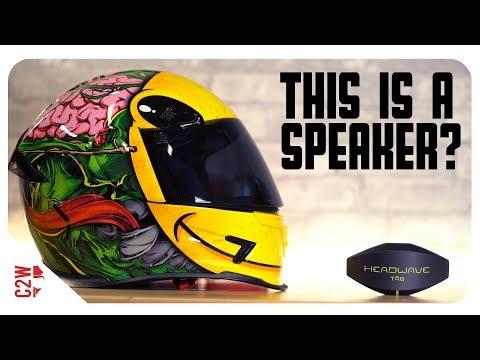 A WIRELESS Motorcycle HELMET SPEAKER?! [First Fit - Headwave TAG]