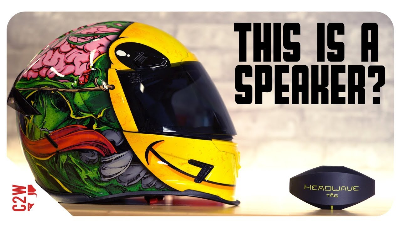 A WIRELESS motorcycle HELMET SPEAKER?! [First Fit