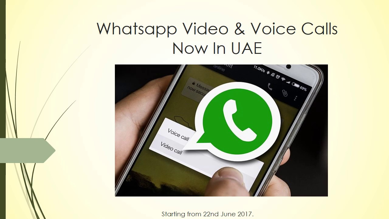 WhatsApp Video & Voice Now Available in UAE   Another Break Through