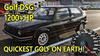 Brutal DSG Golf Mk2 1233HP World Record Video Best Of 2018