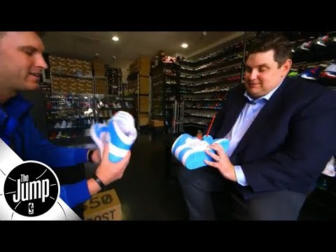 Brian Windhorst goes shopping for kicks: 'I'm looking for fire' | The Jump | ESPN