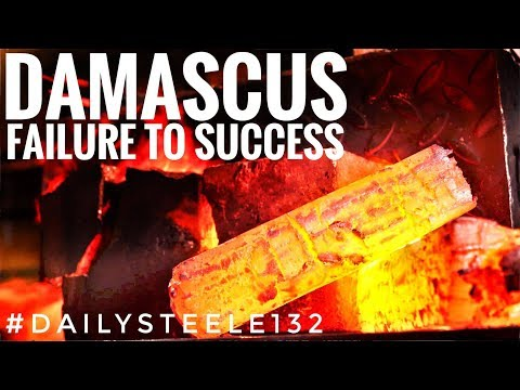 FAILURE AND SUCCESS: FORGING MY BIGGEST BILLET OF DAMASCUS!!