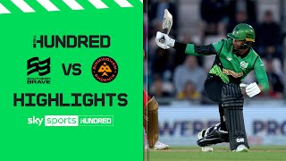 Dropped catch in dramatic finish!   Southern Brave v Birmingham Phoenix   The Hundred Highlights Men