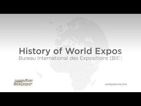 History of World Expo Cities - timeline 1851 - 2020