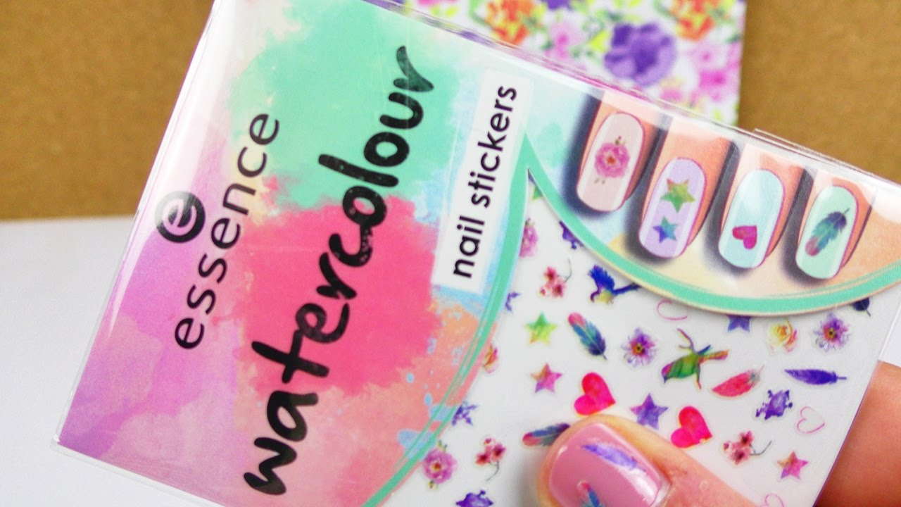 Essence Watercolour NAIL Sticker | Test | Coole Aufkleber für die ...
