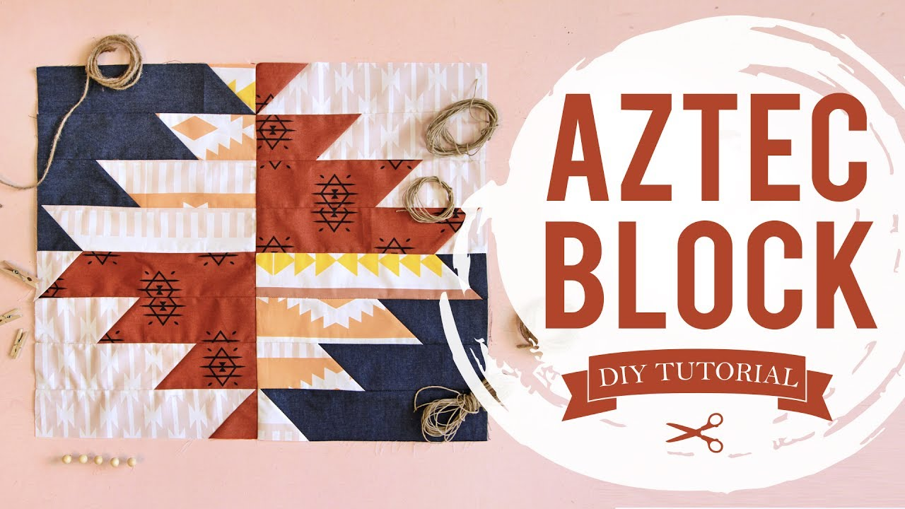 Simple Quilt Block Pattern Aztec Quilt Block Youtube