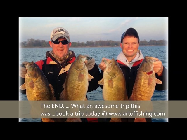 Lake St. Clair/Lake Erie Fall Smallmouth Bass Fishing: Art of Fishing Guide Service