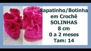 Série Solinha Bebê – Sapatinho Completo – Tamanho 0 a 2 m – 8 cm – Graça Tristão
