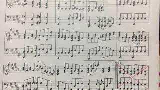 ペダルがうまく踏めていない箇所あります。。。 伴奏を耳コピして楽譜に...
