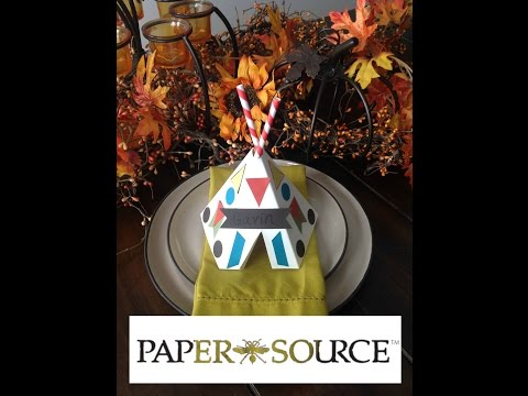 Paper Source TeePee Kit Tutorial