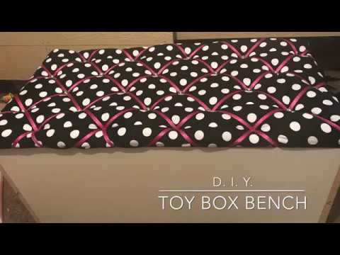 DIY Tufted Toy Box/ Storage Bench