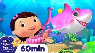 Color Baby Shark | Learning Videos for Toddlers | ABC 123 Colors & Shapes | Little Baby Bum