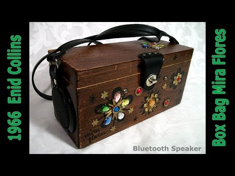 1966 Enid Collins of Texas Box Bag Boombox Mira Flores Bluetooth Speaker