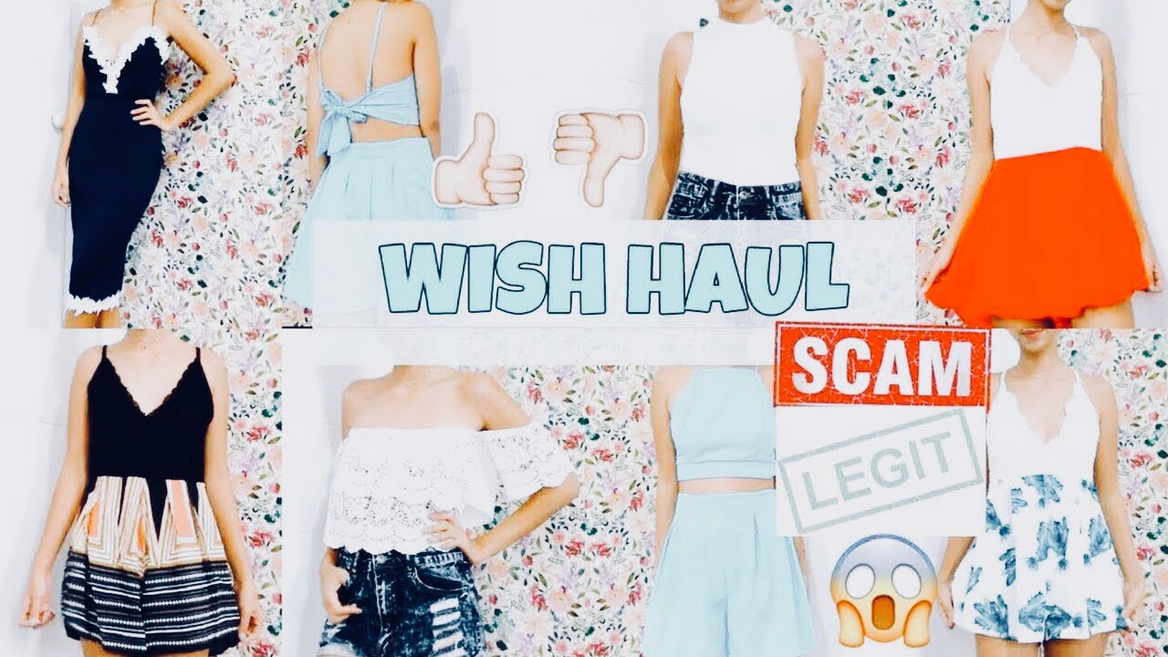 Trying on cheap clothes from WISH haul | Is Wish legit?