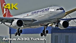 Airbus A330 Turkish Madrid (MAD) [4K]