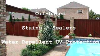 Dallas Fence Staining | Dallas Ft. Worth | Fence Staining Painting Dallas