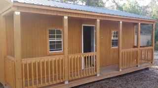 Graceland Portable Buildings Of Huntsville Tx 16x24  Side Porch Cabin