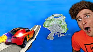 Jumping The WHOLE MAP With The ROCKET CAR.. (GTA 5 Mods)