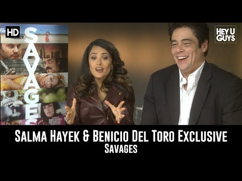 Salma Hayek and Benicio Del Toro Interview - Savages