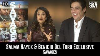 Salma Hayek & Benicio Del Toro Savages Exclusive Movie Interview