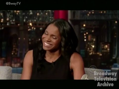 Audra McDonald (LADY DAY ..... ) interview on Late Show With David Letterman (11-June-2014)