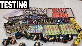 Testing different types of crackers testing   diwali fireworks testing   new diwali crackers 2019