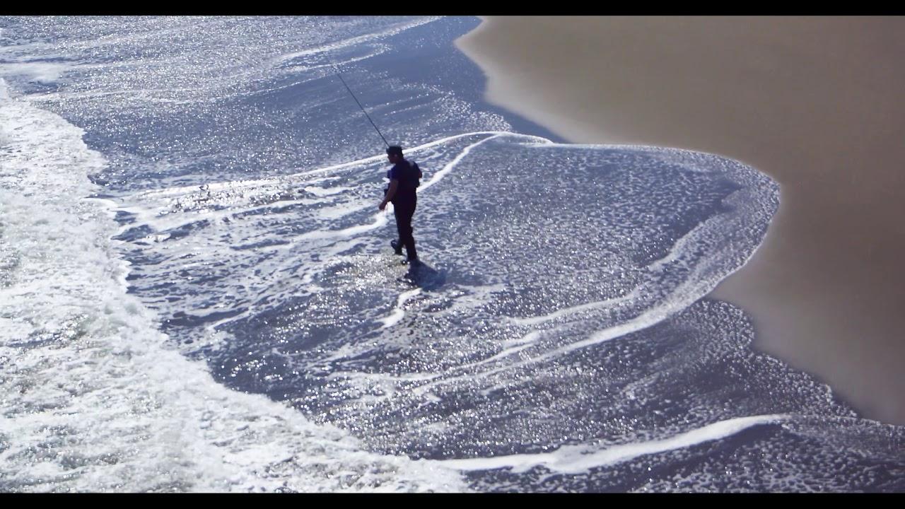 宮崎市石崎浜での釣りの風景