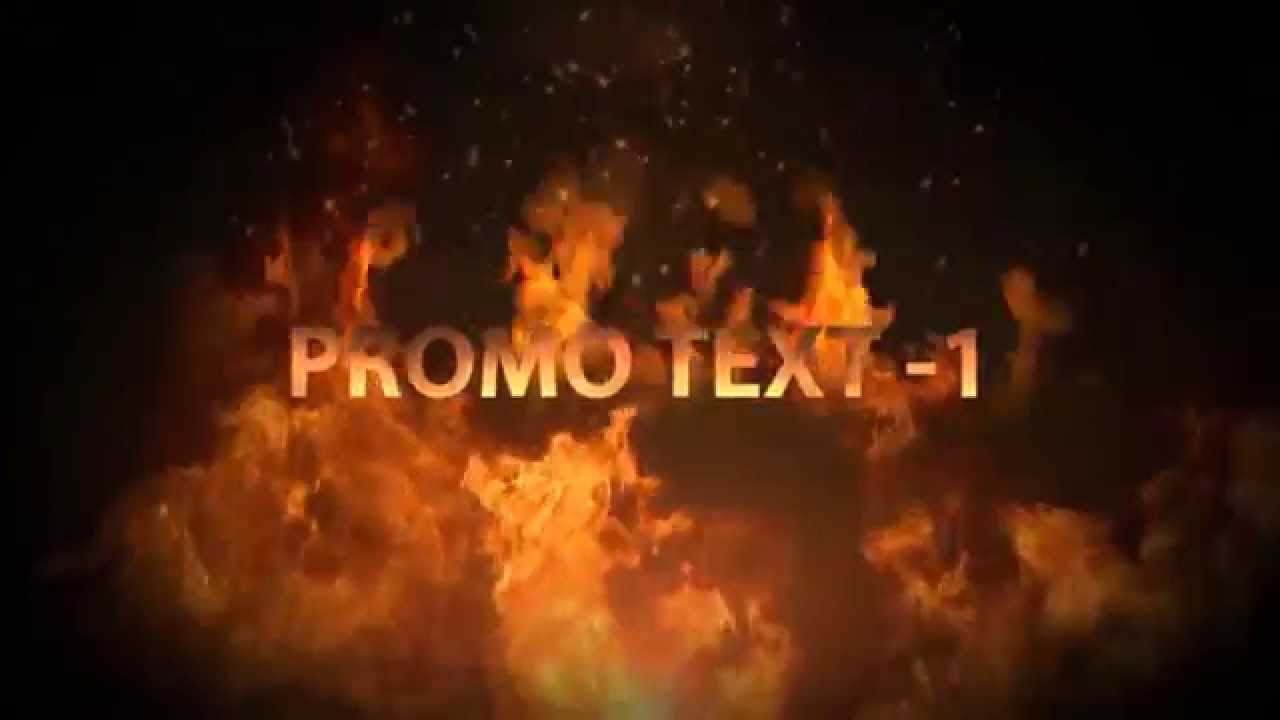 Fire Text Promotion - After Effects Project (After Effects Templates Store)