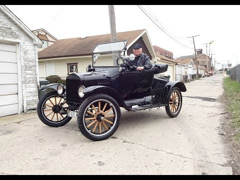 1922 Ford Model T Roadster How to Start & Engine Sound & Rid