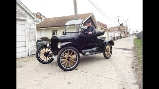 1922 Ford Model T Roadster How to Start & Engine Sound & Ride on My Car Story with Lou Costabile