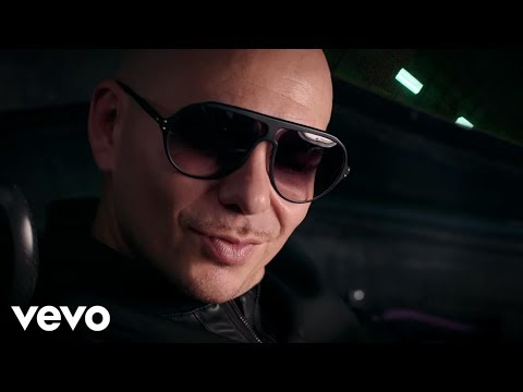Screen shot of Pitbull ft Flo Rida LunchMoney Lewis Greenlight music video