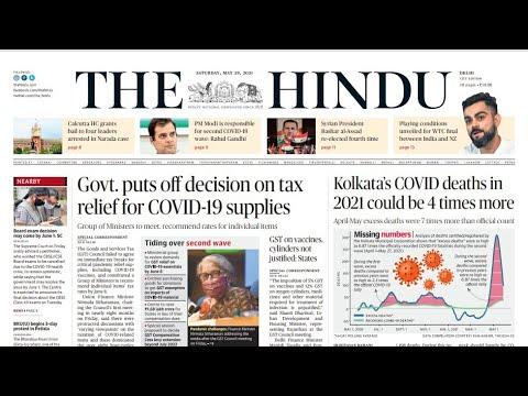 29 May 2021   The Hindu Newspaper Analysis   Current Affairs 2021 #UPSC #IAS #Todays The Hindu