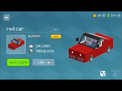 Block Craft 3D: Building Simulator Games For Free Gameplay #810 (iOS & Android) | Red Car 🚘