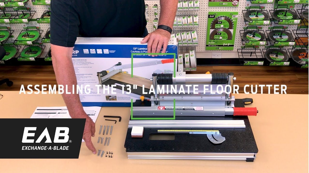 """EAB Tool 2100017 13/"""" Laminate Floor Cutter With Installation Kit"""