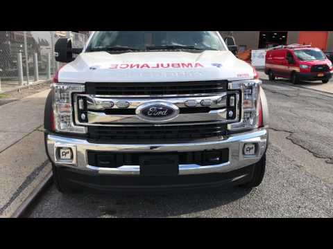 SUPER EXCLUSIVE 1ST VIDEO WALK AROUND OF BRAND NEW FORD F-550 FDNY EMS AMBULANCE NOW IN SERVICE.