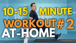 No gym? problem! hey, it's brian from boomer fitness and this is the 2nd at-home workout in series. 20 minute beginner home perfect f...