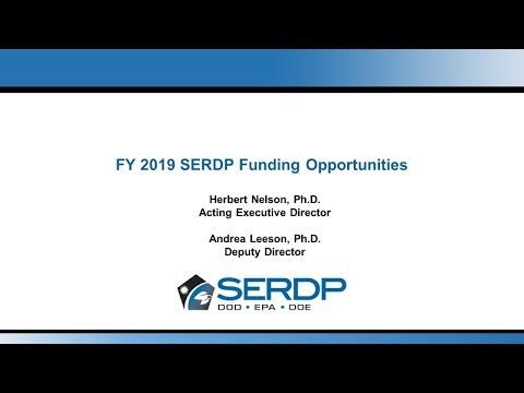 FY 2019 SERDP Funding Opportunities Webinar