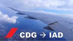 HD Full Flight | Paris to Washington IAD on Air France 777-300ER