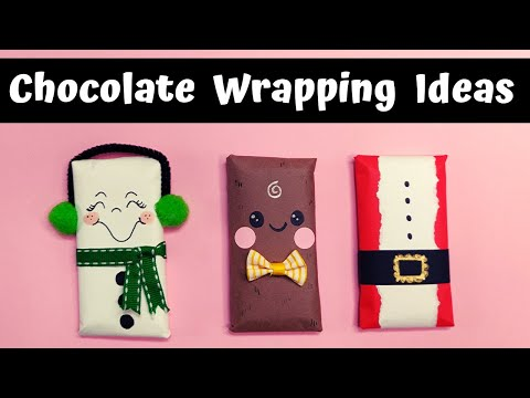 Chocolate gift wrapping ideas for Christmas
