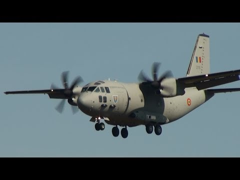 Romanian Air Force C-27 Spartan Landing at Berlin Schönefeld Airport for ILA 2012 HD (1080p)