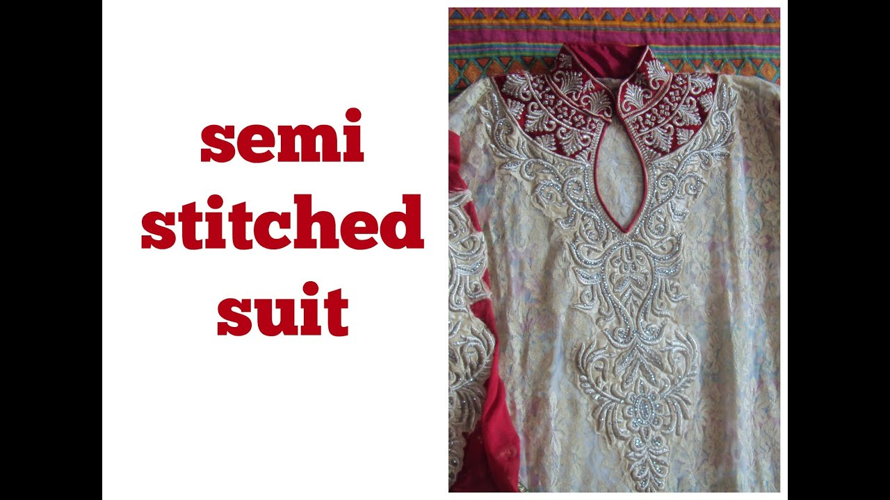 SEMI STITCHED SUIT - YouTube