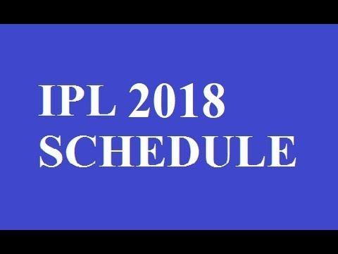 Ipl 2016 Match Sedule Pdf