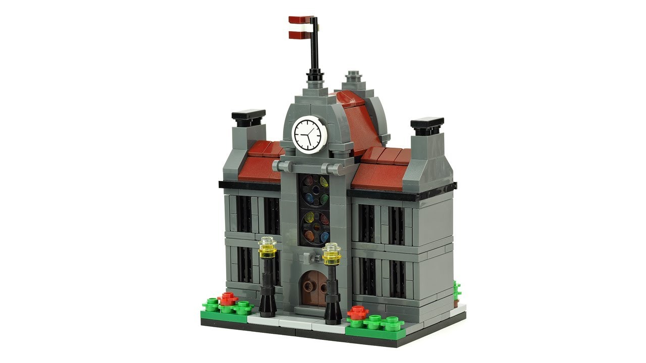 Lego Town Hall Moc Building Instructions Youtube
